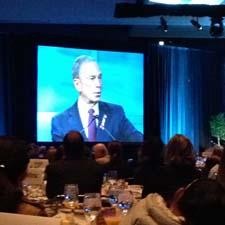 Bloomberg speaking at the breakfast