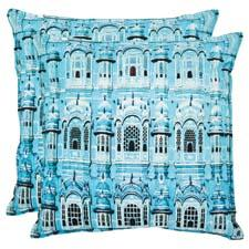 Safavieh The Verona decorative pillow uses a photo-realistic image of the city on organic cotton. safavieh.com