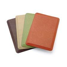 The Comfort Co. Anti-Fatigue kitchen mat comes in a range of colors and designs, the pattern Tuscany. sleepinnovations.com
