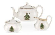 The Spode Christmas Tree gold collection adds a touch of elegance to the beloved pattern. portmeiriongroup.com