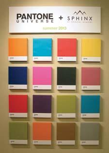 The Pantone collection will debut this summer and Oriental Weavers created a display in its High Point showroom.