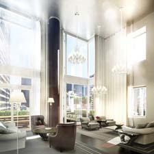 The proposed duplex of the Baccarat Hotel & Residences New York