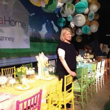 Martha Stewart poses with some of her J.C. Penney merchandise at the launch event in New York City.