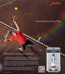 Roger Federer in the Jura ENA Micro 9 One Touch ad