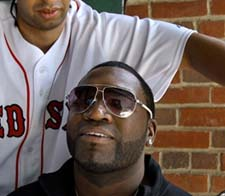 David Ortiz prepares for a trim.