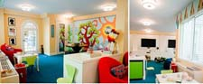 Hudson Valley Lighting's Seneca fixtures in the new playroom