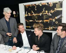 From left, Gilt's Tom Delavan, interior designers Nate Berkus and Jeremiah Brent and Gilt's Keith George at last night's event. Photo: Dean Neville/BFAnyc.com