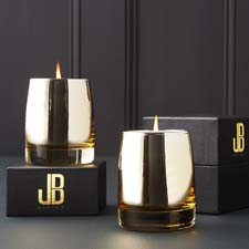 Jeremiah Brent Gilt candles