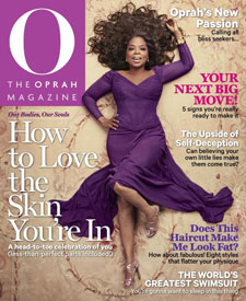 The May cover of O The Oprah Magazine Photo credit: Ruven Afanador/O Magazine