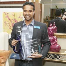 Surya's Satya Tiwari with his two awards