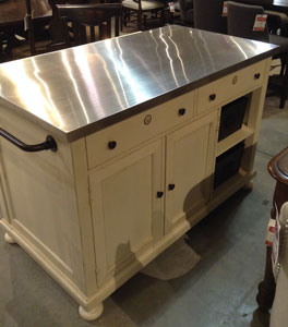 A Sales Associate Was Quick To Point Out That This Kitchen Work Island On  Display,