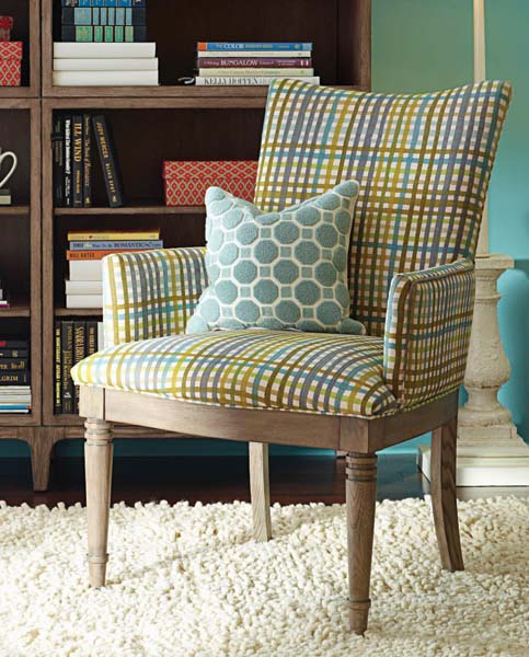 Somerton is featuring Open Seating, a mix and match program of 11 upholstered chairs. Pictured is Kate. somertondwelling.com