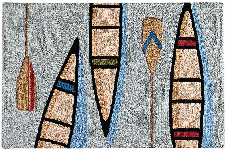 C & F's Canoe rug design is woven of cotton and comes in 2-by-3, 3-by-5 and 2-by-6 sizes. cnfei.com