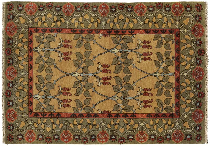 The newest addition to the Arts & Crafts collection, the Essex is a handknotted rug made with New Zealand wool spun by hand to create a subtle blending of colors. persiancarpet.com.