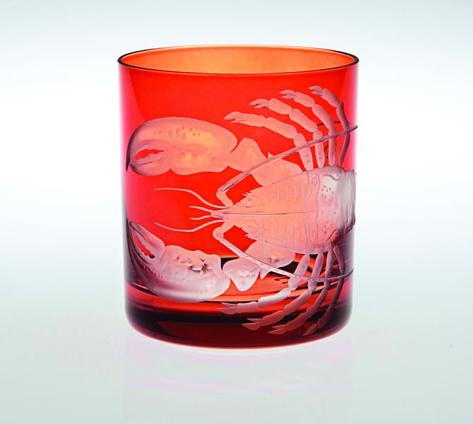 Crab & Lobster is Artel's newest design motif, in a range of barware shapes.  artelglass.com
