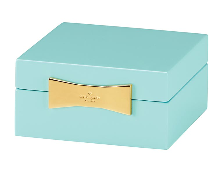 Garden Drive keepsake boxes have a bold lacquer finish and are topped with Kate Spade's signature bow. lenox.com
