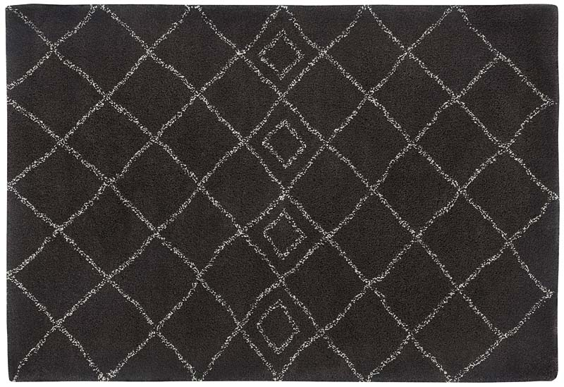 Capel's Tangier, a machine-woven 100 percent olefin collection made in Belgium, features a plush and soft pile nearly two inches high. Six designs include red, diamond, pebbles, stone, brown and raisin. capelrugs.com