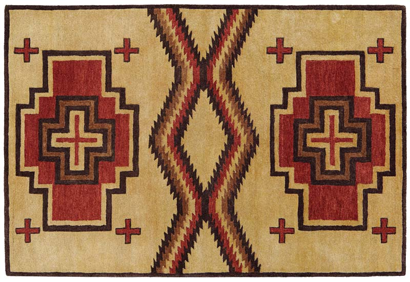 Four new rug designs are being added to Southwest Looms' Pendleton Classic collection, a line of handtufted rugs made in India using handspun New Zealand wool and based on the trade blanket designs of Pendleton Woolen Mills. southwestlooms.com