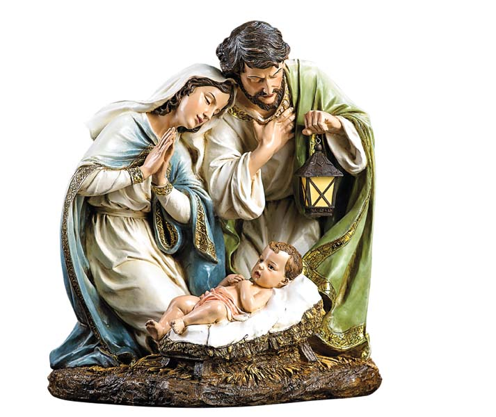 From the Joseph's Studio collection, Roman presents a sculpted Holy Family tabletop piece. roman.com