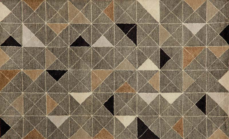 Designed by Liora Manné, the Triangles design in the Fantasy collection is an all-over design of triangles on a grid. Handtufted of wool in India. transocean.com