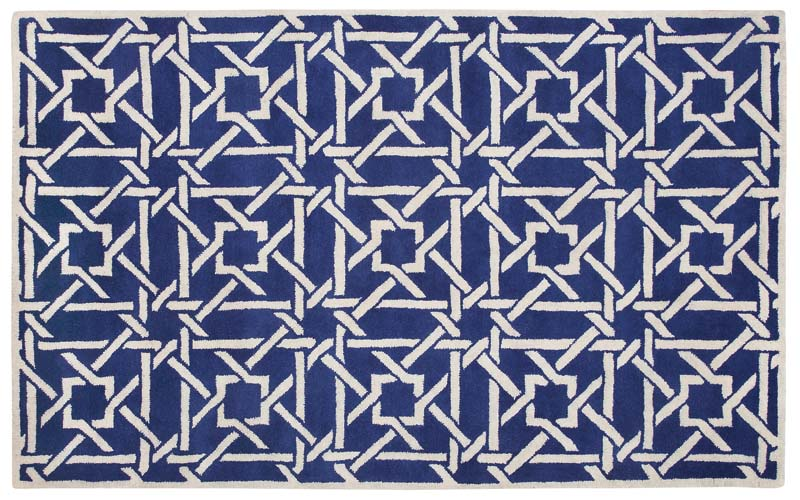 Panache, a handtufted 100 percent wool collection made in India, contains six designs, including Chevron, Floral, Jetson, Sarouk, Tile and, here, Bamboo. Available in four sizes. capelrugs.com