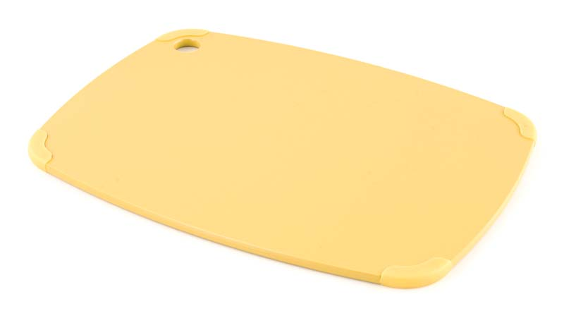 Eco Plastic Cutting Boards are dishwasher-safe surfaces that are made from post-consumer recycled milk jugs. epircureancs.com