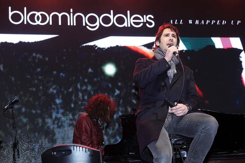 Singer Josh Groban helped usher in the holiday season at Bloomingdale's with several songs before the retailer's holiday windows were unveiled.