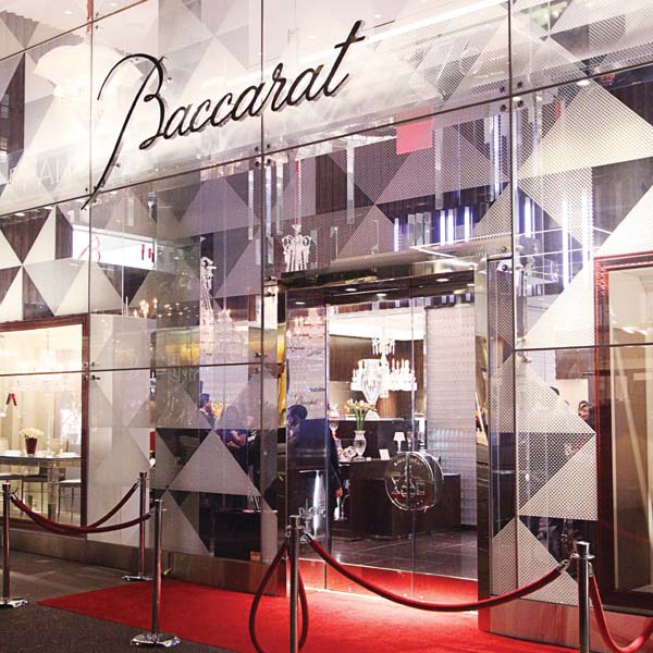Baccarat's red carpet entrance