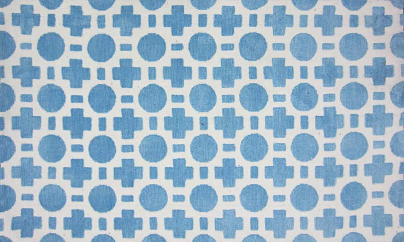 Loloi: The Piper collection for children is machine-made of polyester in China. Shown is design Blue Checkers (PI-05). loloirugs.com