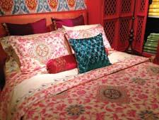 Morocco is part of the company's debut of its bedding and bath collection with Iman Home. alokind.com
