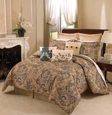 Part of the company's Historic Charleston collection, Spoleto features all-over Jacobean motifs inspired by the interiors of the homes in that community. elleryhomestyles.com