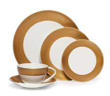Hammersmith Gold dinnerware offer a luxe look in matte gold. mikasa.com