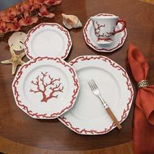 Barriera Corallina dinnerware from Mottahedeh's Tony Duquette collection. mottahedeh.com
