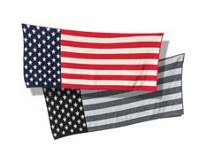 The American flag is one of the classic design styles used in the company's line of fully knit, thick blankets. votaryny.com