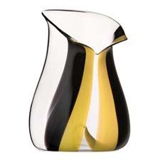 A new Champagne cooler resembles a tuxedo and has a concave base the fits the punt (indentation) of a Champagne bottle. riedel.com
