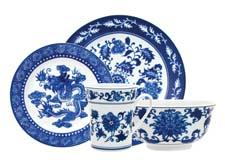 Bombay Asian Garden offers porcelain decaled dinnerware in classic blue and white. zrikebrands.com