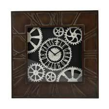 From ELK's Sterling division, this large clock (style #130-007) features a distressed hand-painted frame with an aria bronze finish. mysterlinghome.com