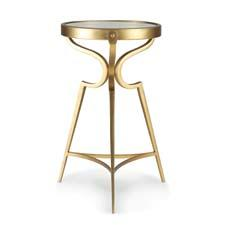 The Martini Tripod Table from Thomasville is available in gold leaf and other finishes. thomasville.com