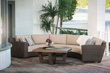 Agio brings its casual furniture offerings to High Point with its San Rafael Sectional for numerous seating options. agio-usa.com