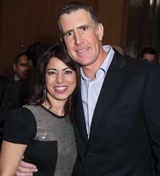 "TeleBrands' Poonam Khubani and pitchman Anthony ""Sully"" Sullivan at the event."