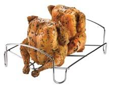 Cuisipro's Dual Roaster is a multi-purpose roasting rack that converts from a traditional horizontal roaster to a side-by-side vertical roaster. Made of stainless steel, the rack features two sets of integrated swing arms. cuisipro.com