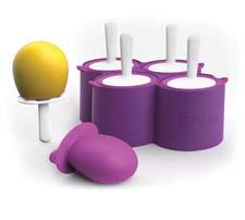 Zoku expands its line with the new Slow-Pop collection, in Mini Pop Molds, Classic Pop Molds and, here, Round Pop Molds, for the consumer who wants to make popsicles the traditional way—in the freezer. zokuhome.com