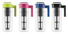 The Takeya Flash Chill Iced Tea Maker brews hot tea and flash chills it in minutes, in one pitcher. Available in an assortment of colors, it comes in a 1- and 2-quart size. takeyausa.com