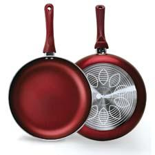 Part of Epoca's Ecolution eco-friendly cookware line, the Evolve line has 30 new SKUs and features Hydrolon, a water-based, PFOA-free nonstick coating. Available in crimson red, copper bronze, new moon blue and black. epoca.com