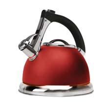Primula's Push+Serve 3-qt. whistling teakettle comes in a new matte finish, from classic black and stainless steel to the colorful hues of marigold and red. primulaproducts.com