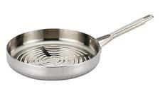 Shown here as the grill pan, Meyer's new Anolon Tri-Ply cookware has 20 open stock items available, including specialty pans like sauciers, braisers, double boiler sets, grill pans and roasters, and two different sized sets. meyer.com