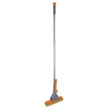 The Quick 'n Easy Roller Mop features an easy-pull wringer and an angled sponge mop that allows for better contact with the floor. casabella.com