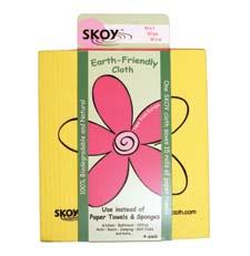 The Skoy cloth is an absorbent, biodegradable and natural multi-use cloth for cleaning surfaces in any room of the home or office. skoycloth.com