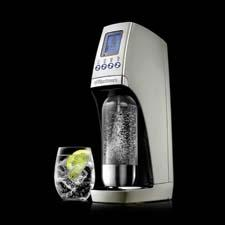 The Revolution is the company's first electric soda maker, with touch-button activation and a snap-n-lock mechanism. sodastreamusa.com