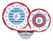 New nautical-themed melamine dinnerware is part of a licensed collection by Dena Designs. zrikebrands.com